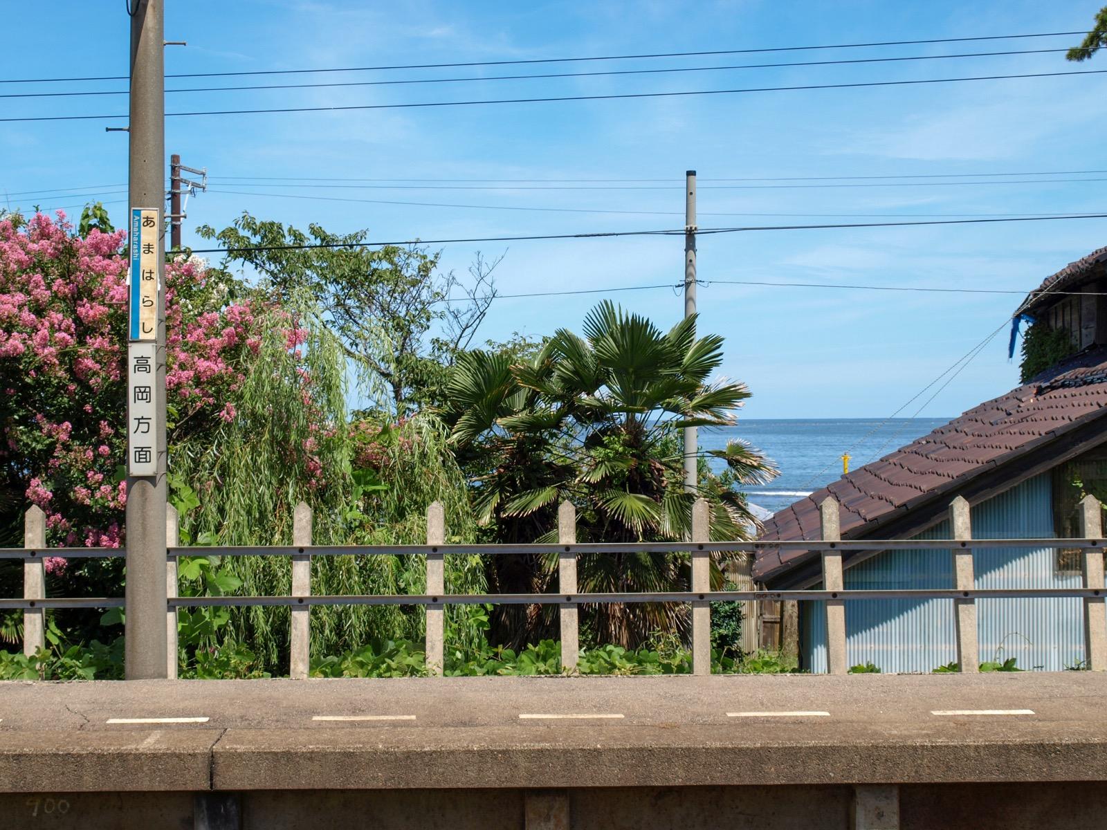 雨晴駅から見た富山湾