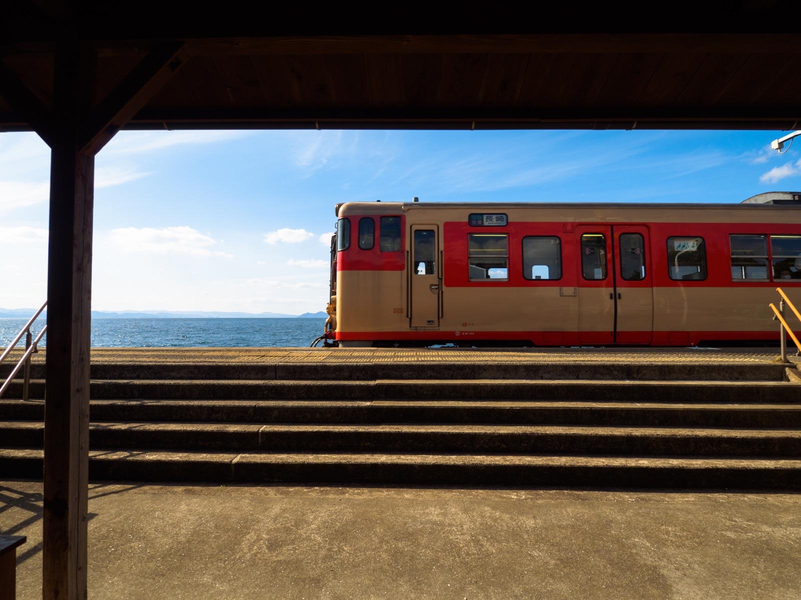 海の見える千綿駅