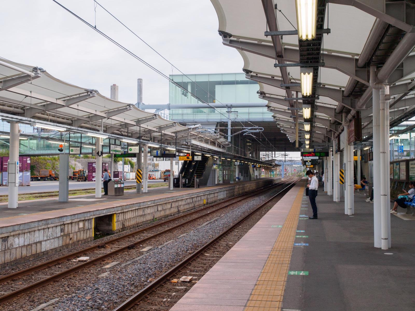 日立駅のホーム