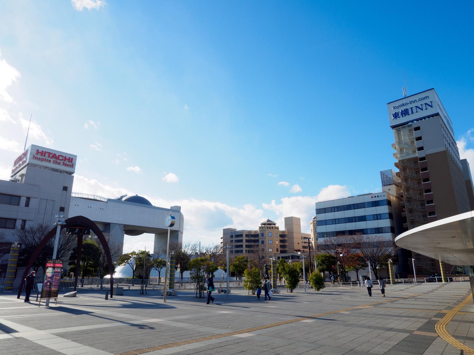 日立駅中央口の駅前