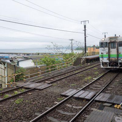 駒ヶ岳は雲に隠れたままでしたが、帰りの列車に乗り込みました。