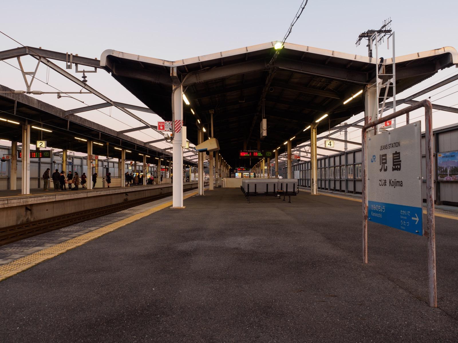 児島駅のホーム