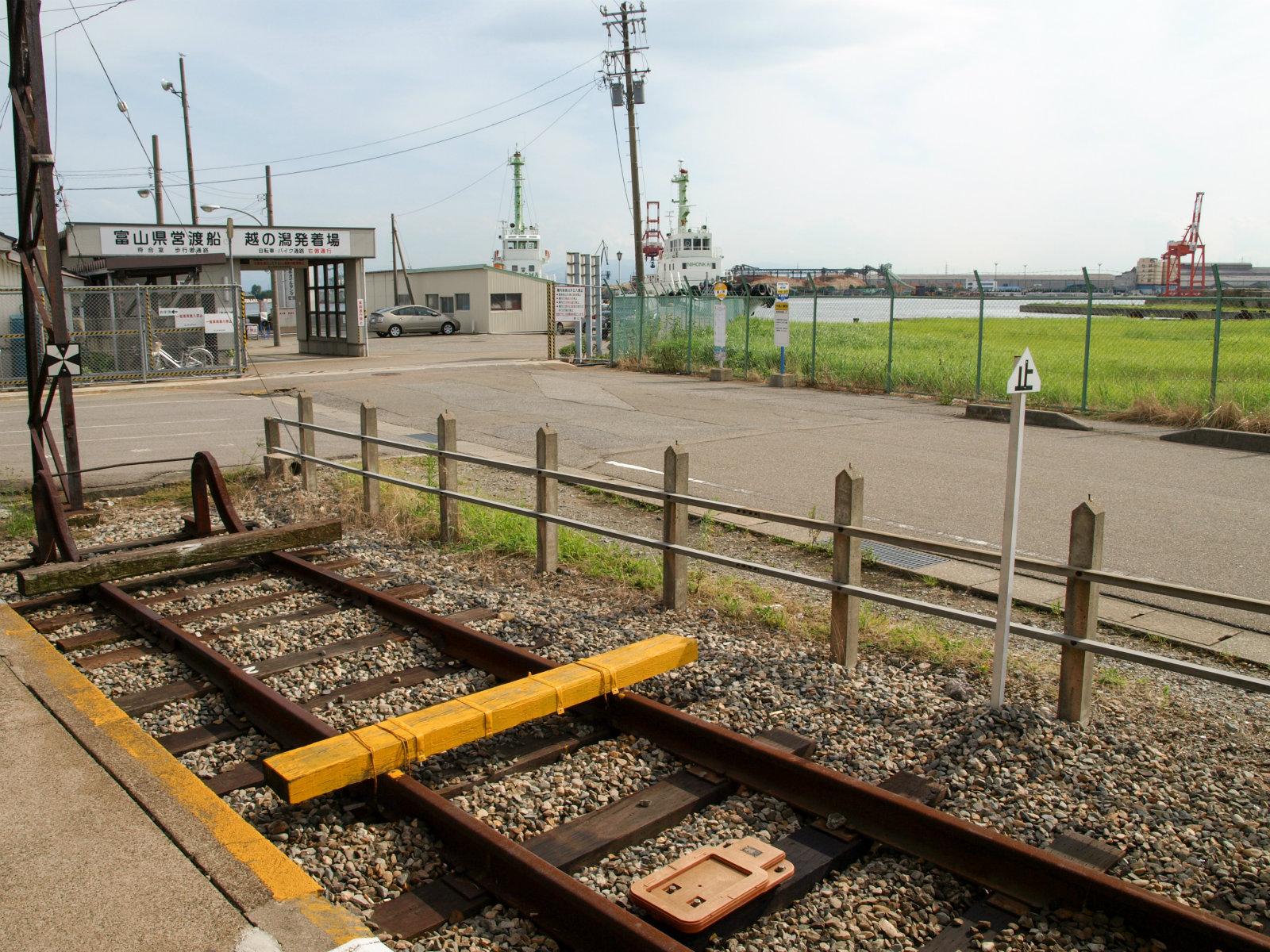 越ノ潟駅から見た景色