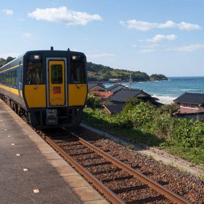 特急列車が通過していきました。