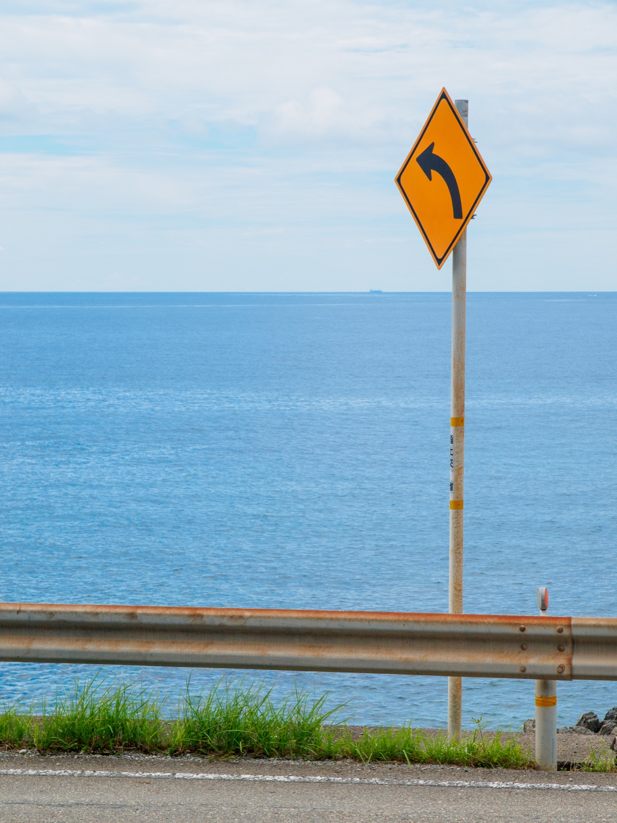 見老津駅前から見る太平洋