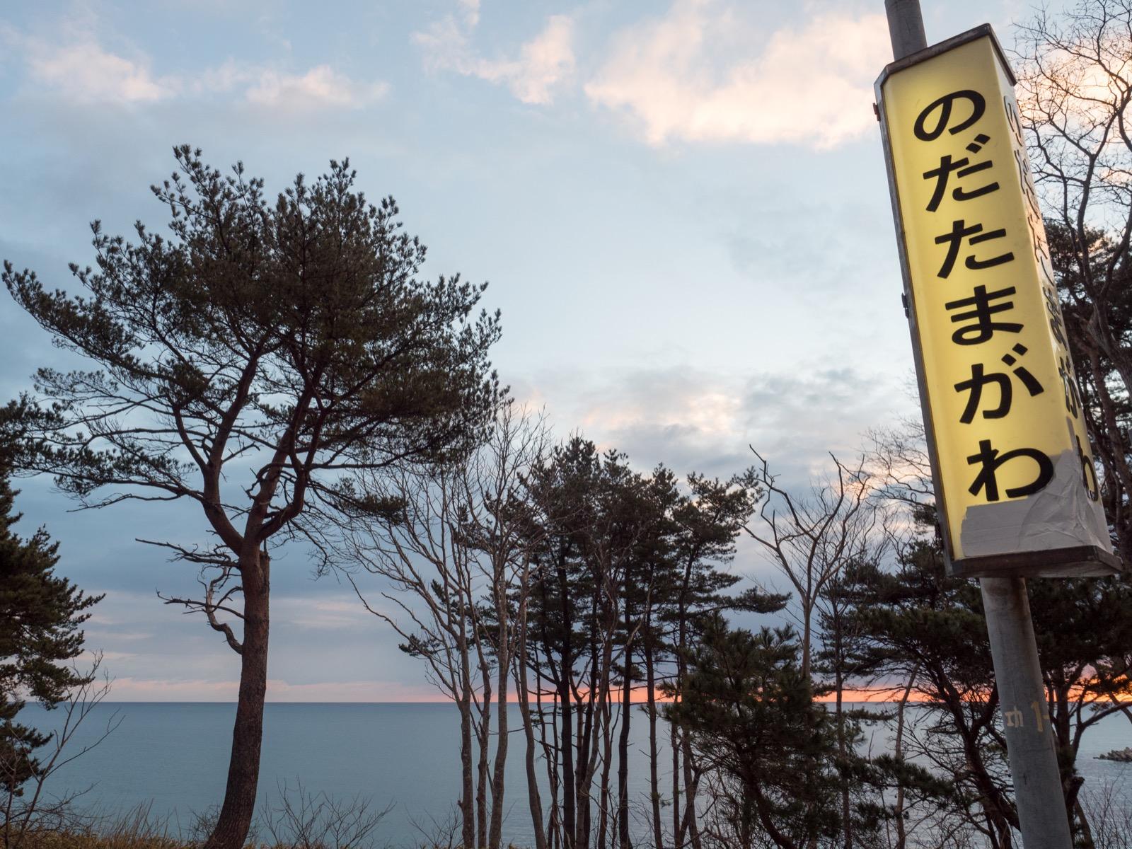 野田玉川駅のホームから見た太平洋
