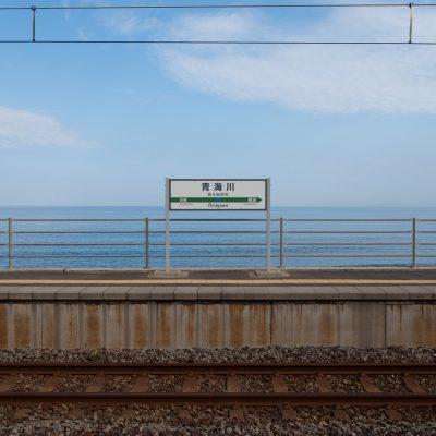 日本海しか見えません。