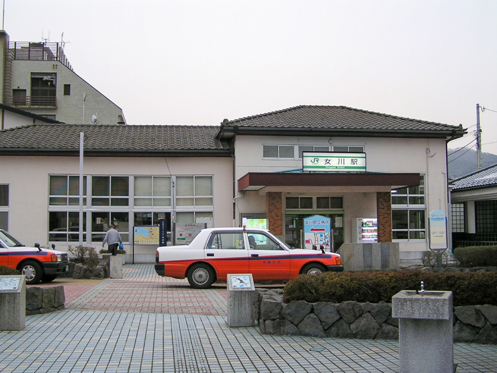 震災前の女川駅の駅舎(2007年3月)