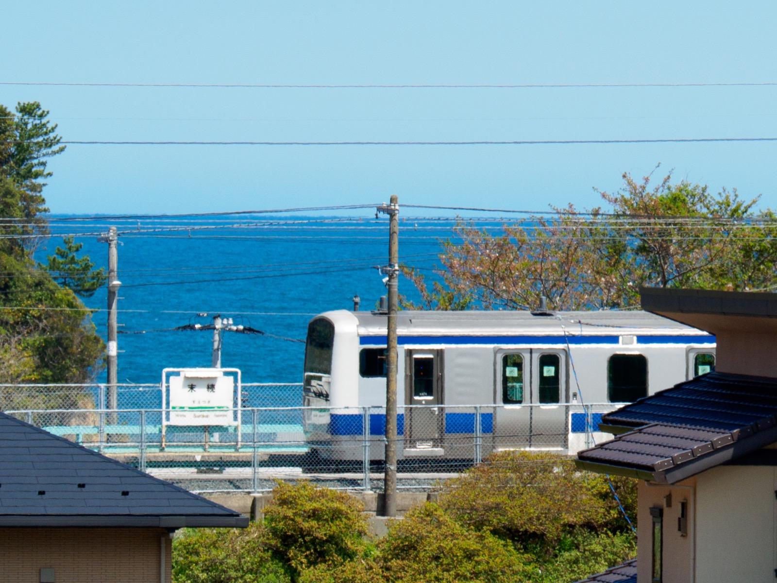 末続駅と太平洋