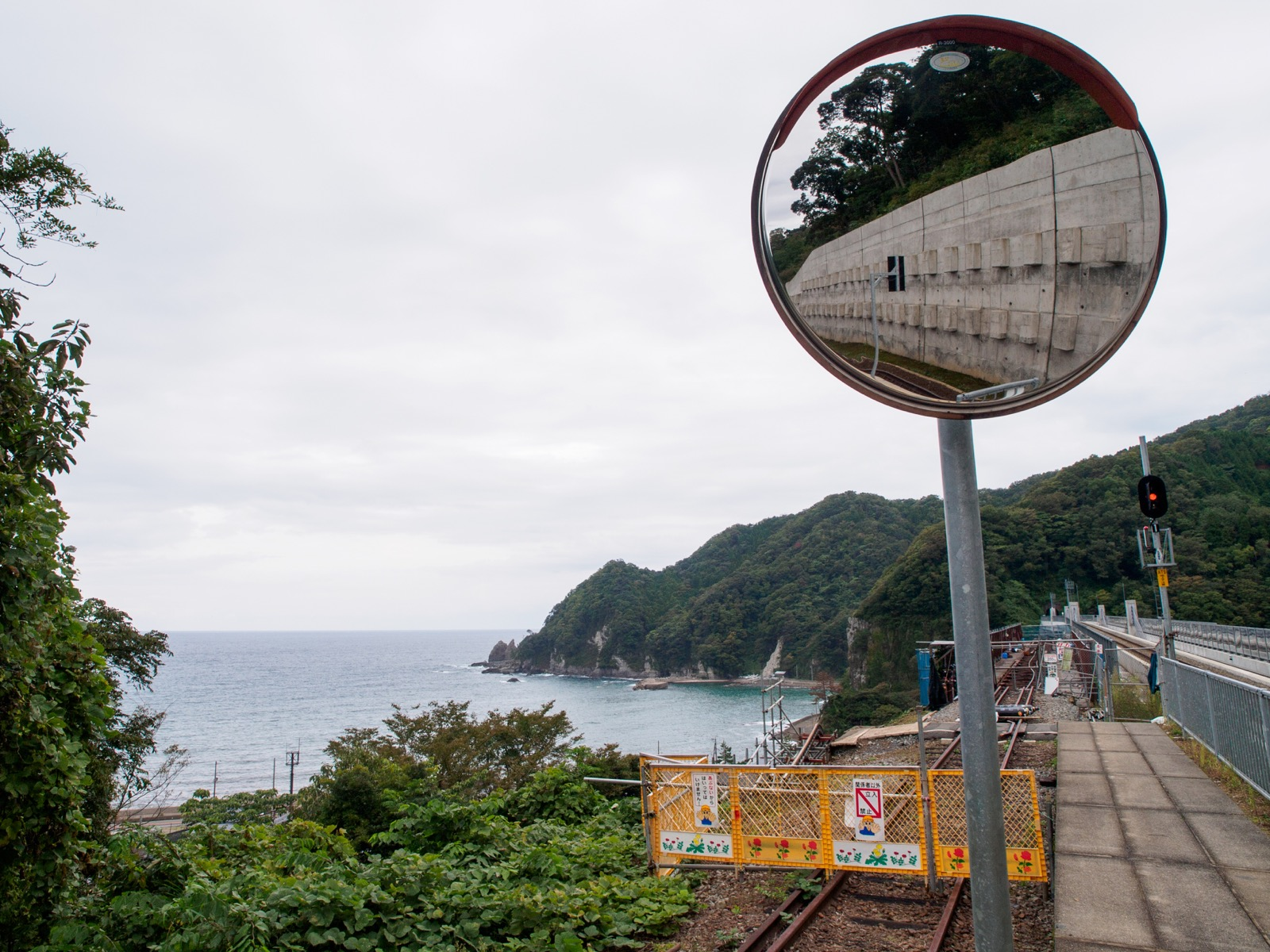 余部鉄橋「空の駅」が完成する前の餘部駅
