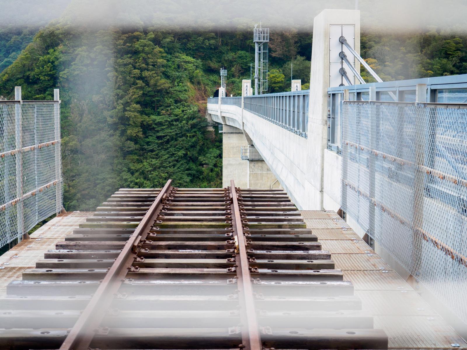 余部鉄橋「空の駅」の先端部