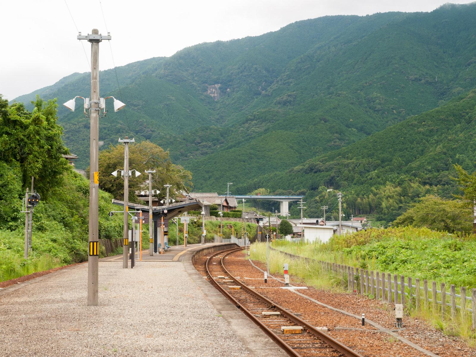 新鹿駅のホーム