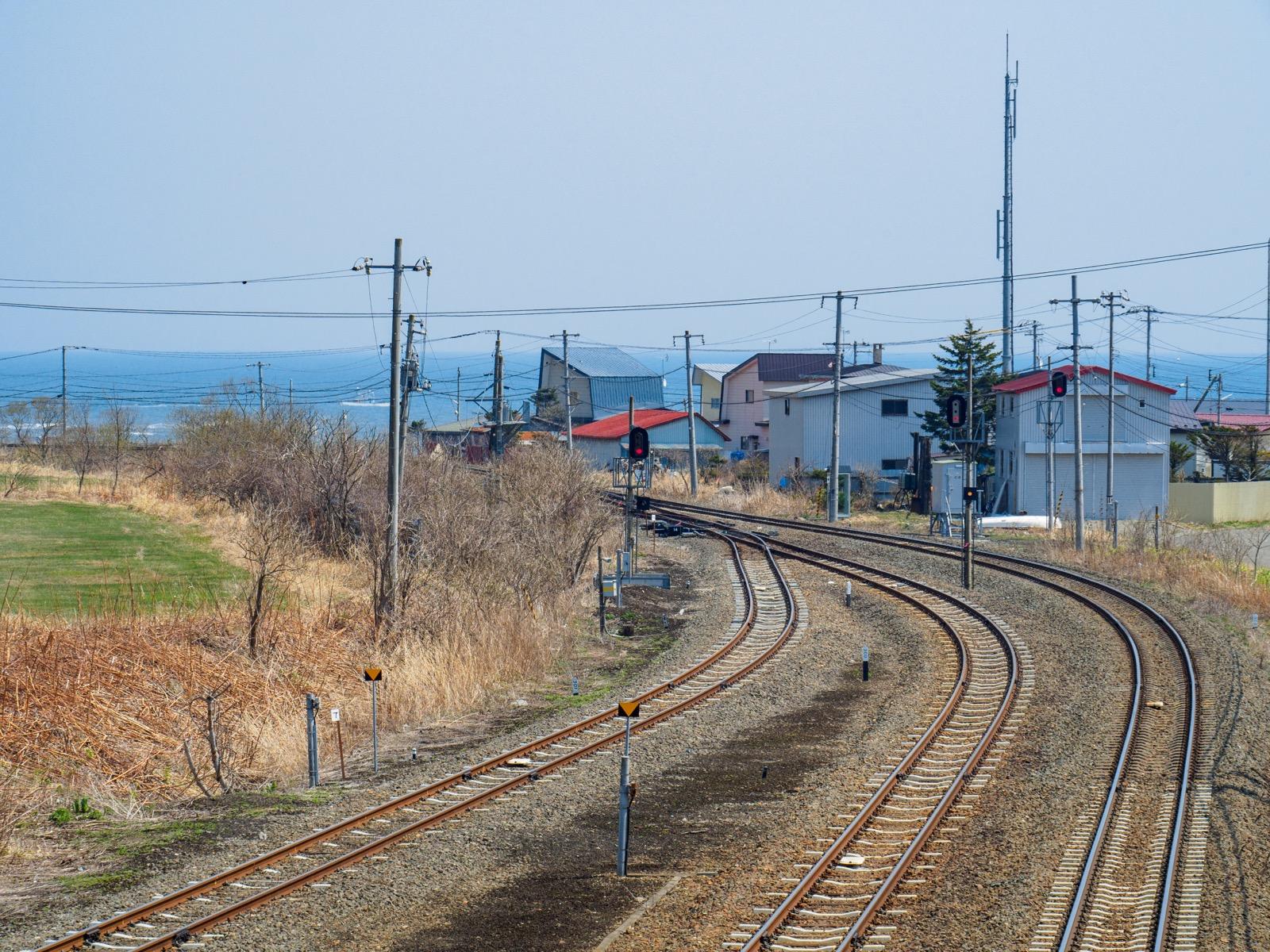 厚内駅から見た太平洋