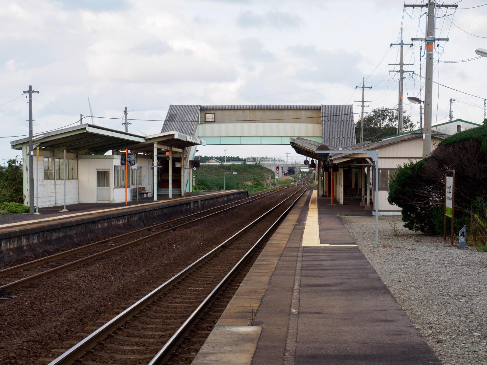 大山口駅のホーム