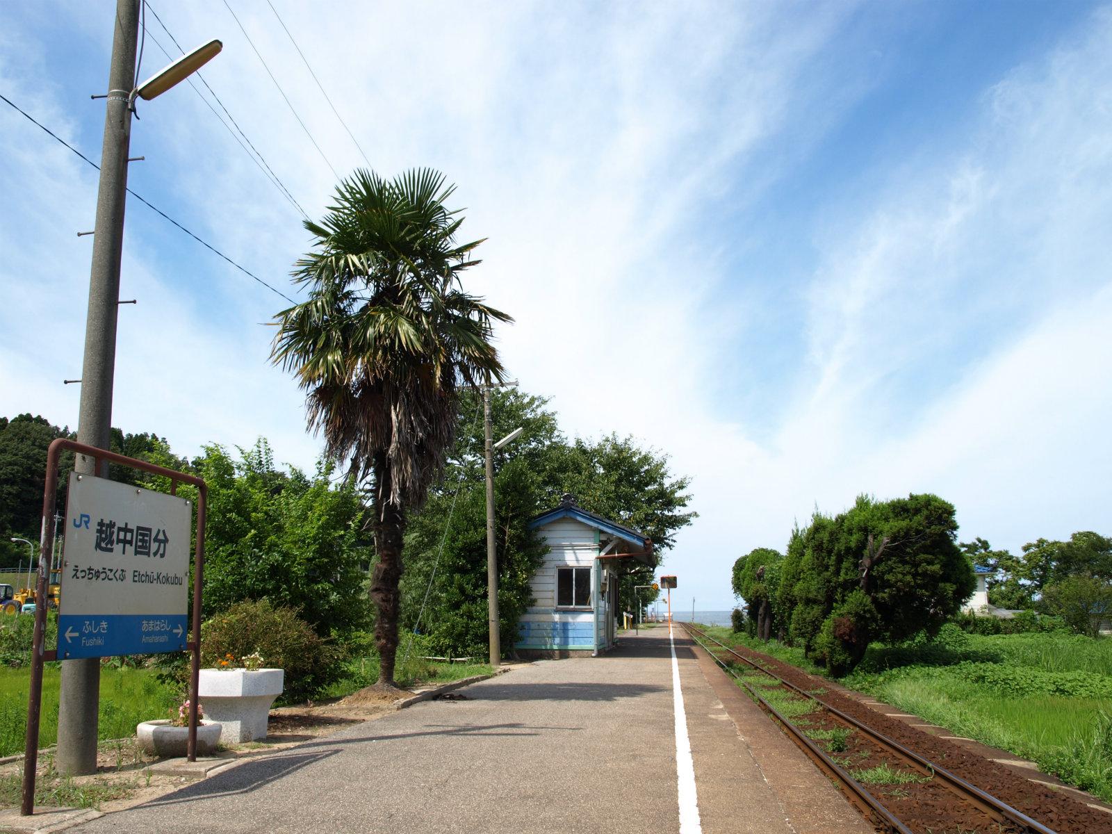 越中国分駅