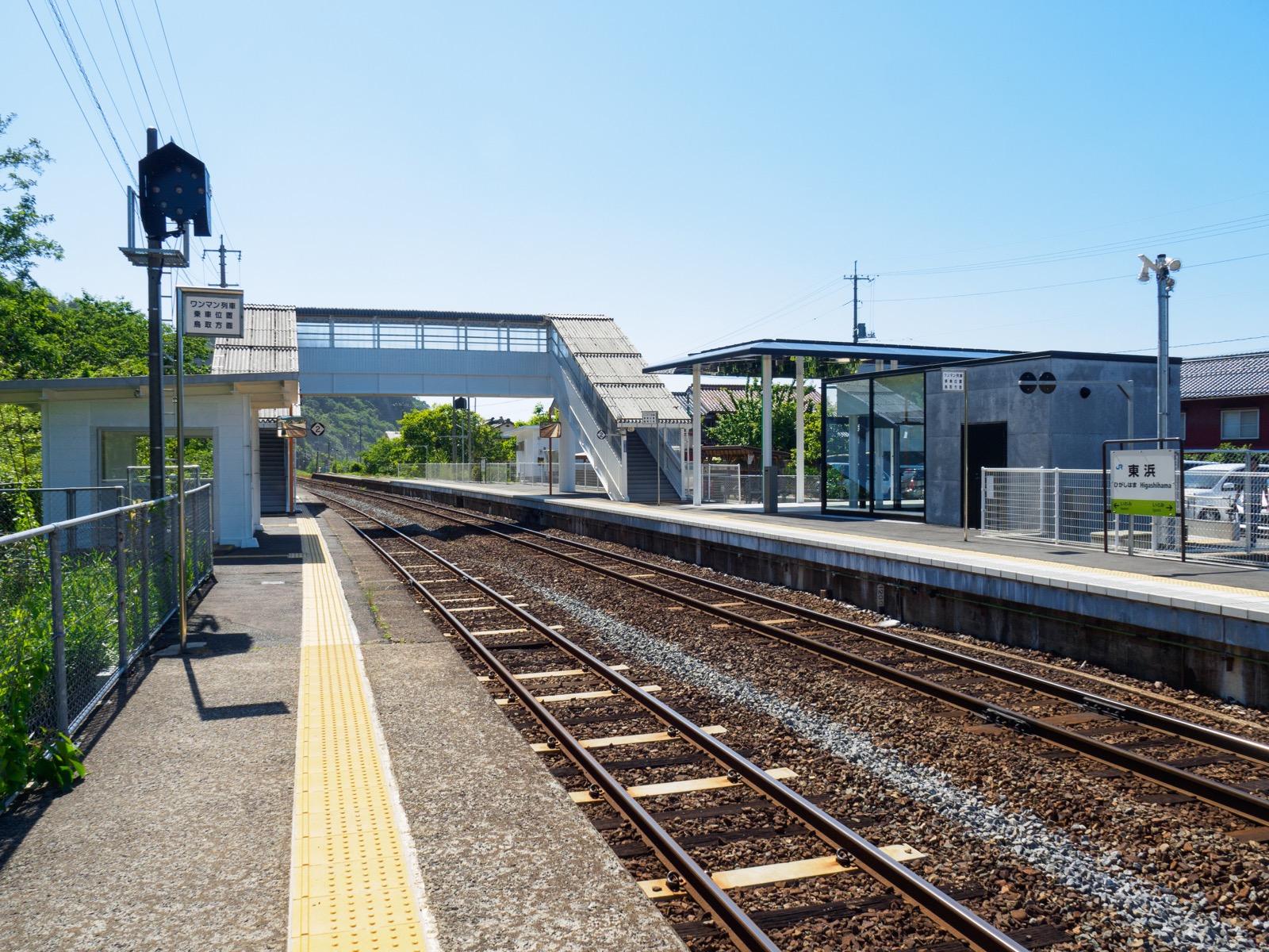 東浜駅のホーム