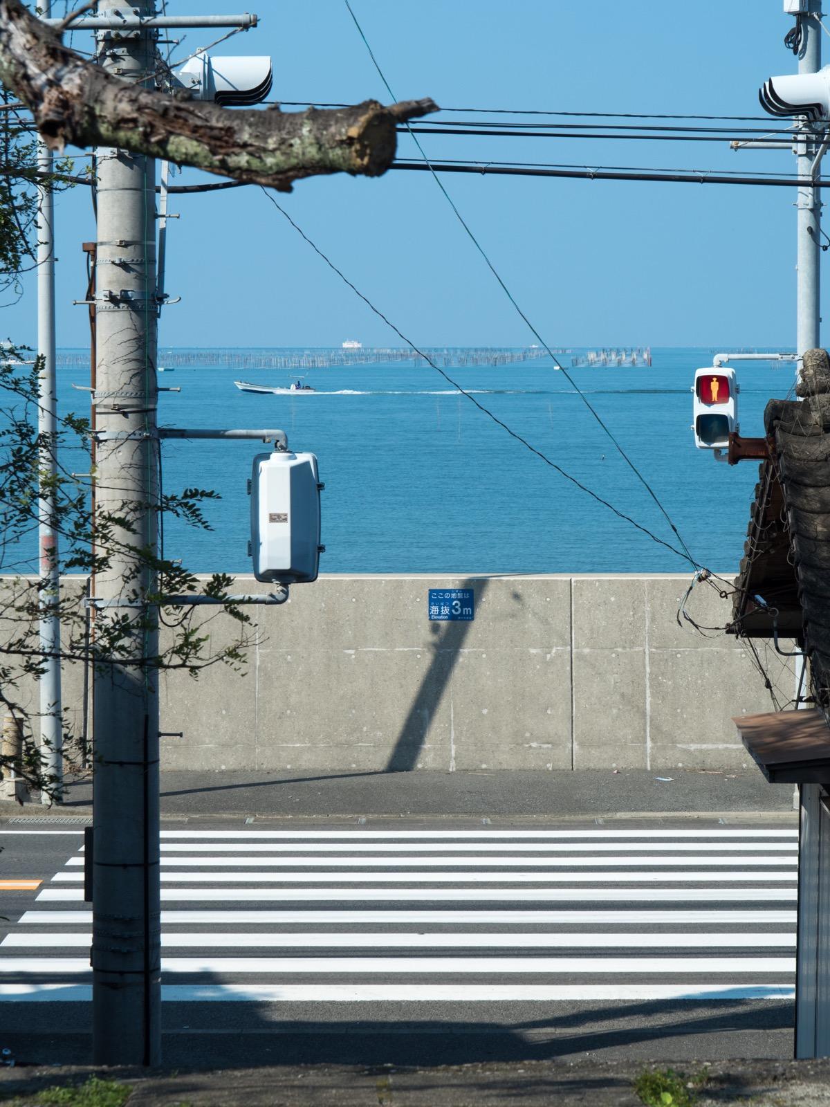 肥後長浜駅から見た有明海