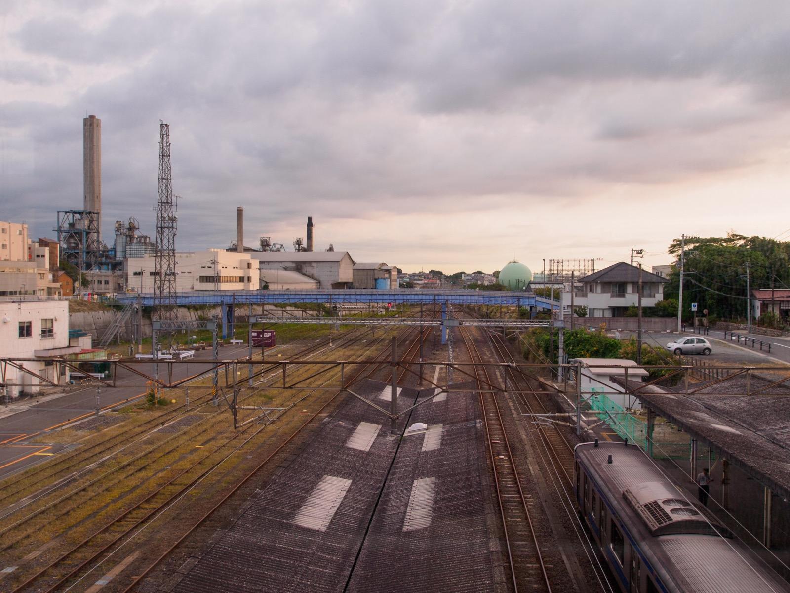 日立駅自由通路から見た駅周辺