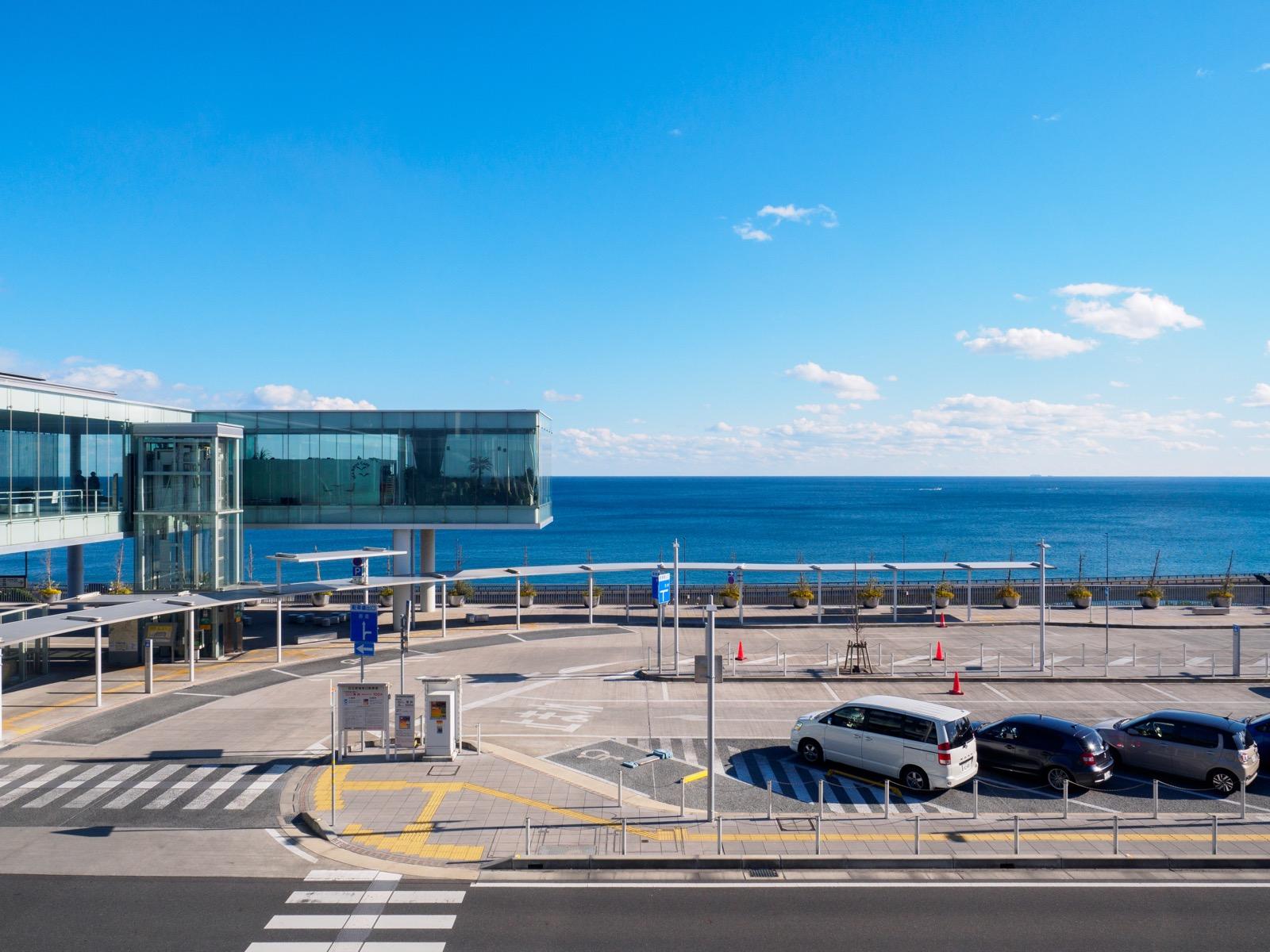日立駅から見た太平洋