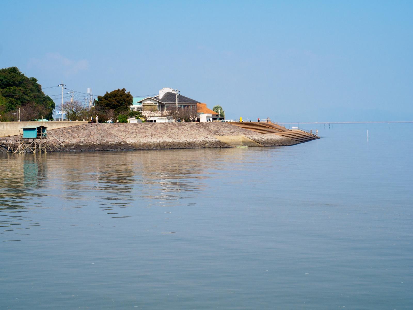 有明海と「道の駅 鹿島」