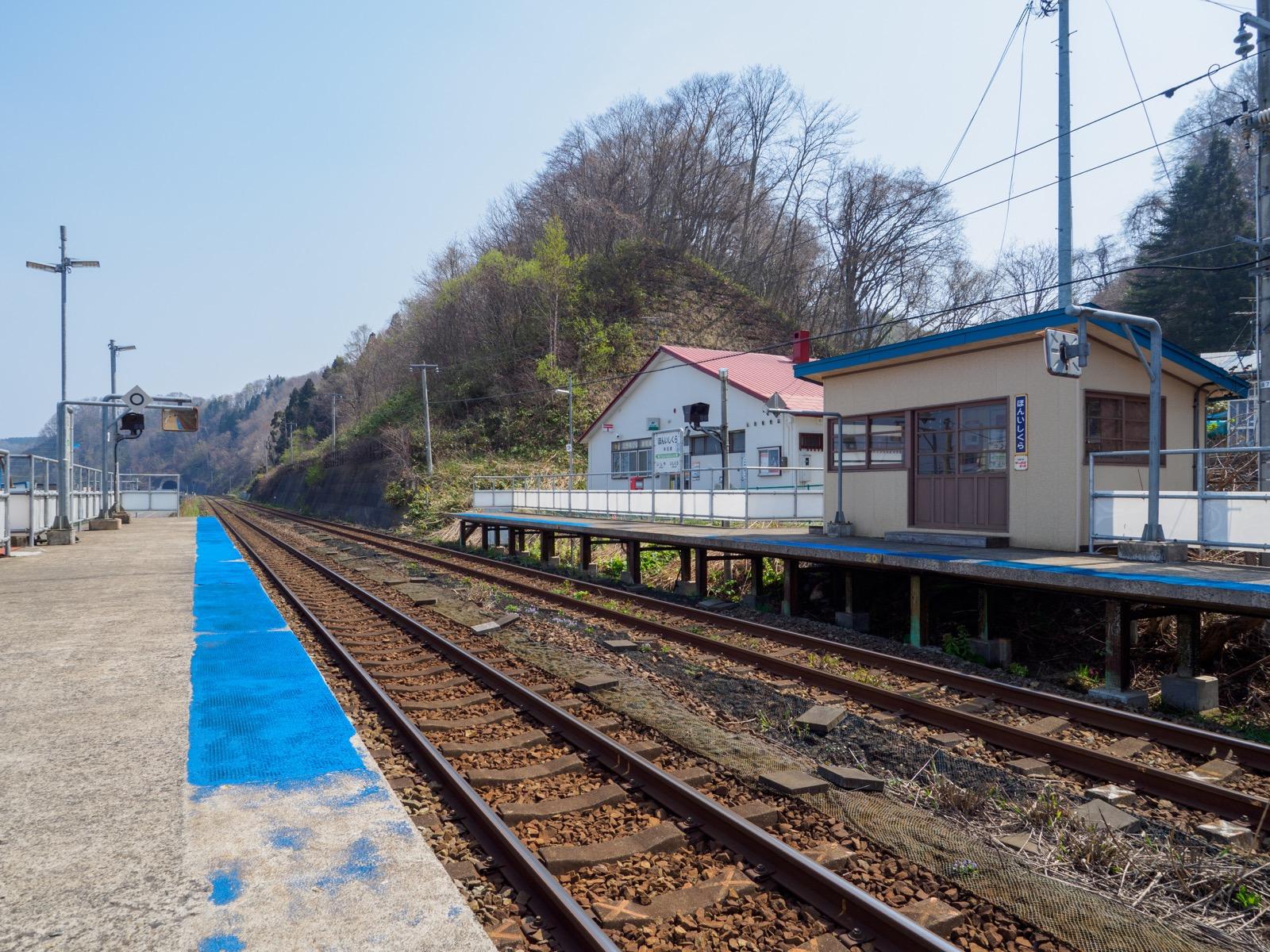 本石倉駅のホーム