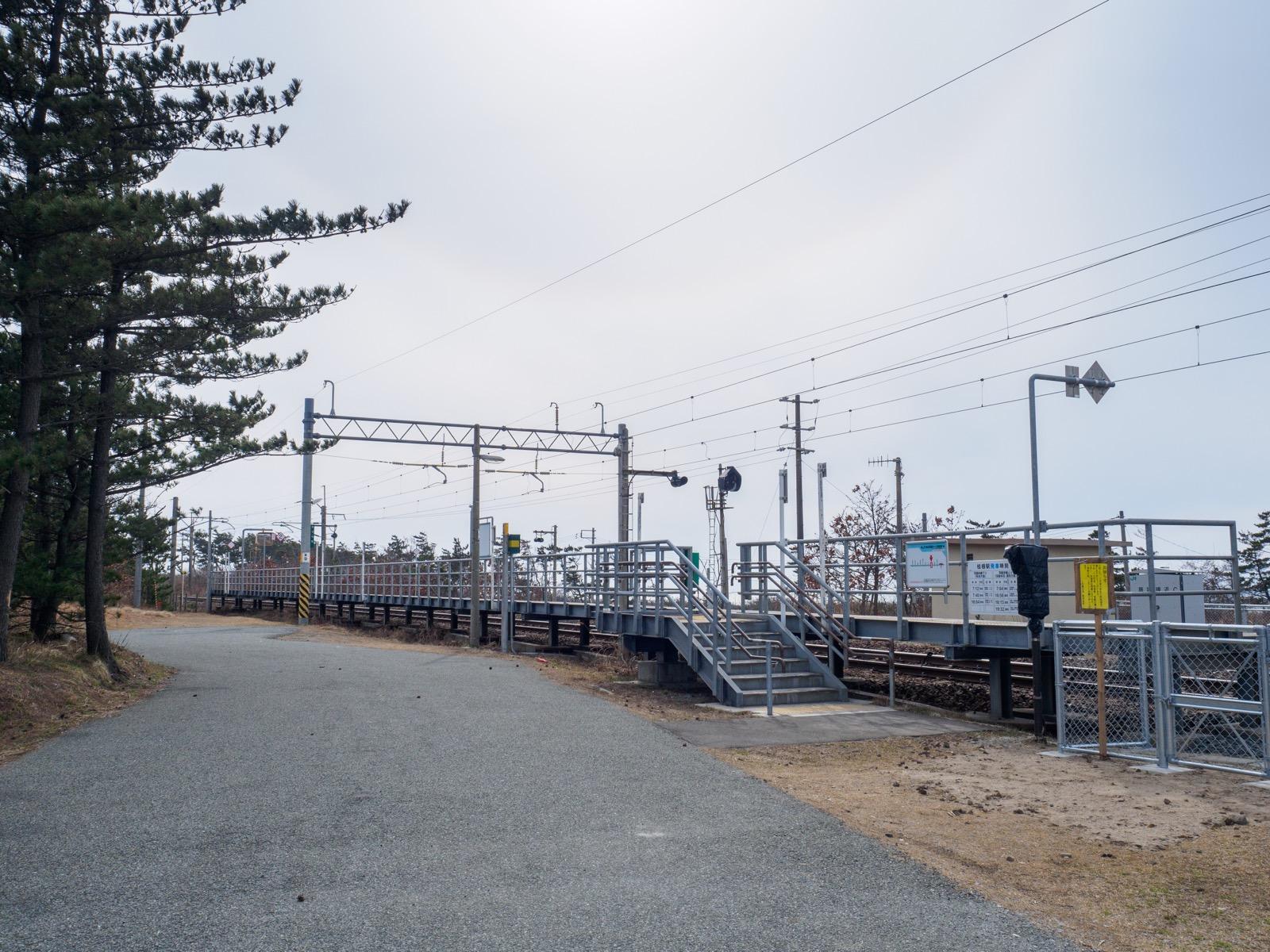 桂根駅の全景