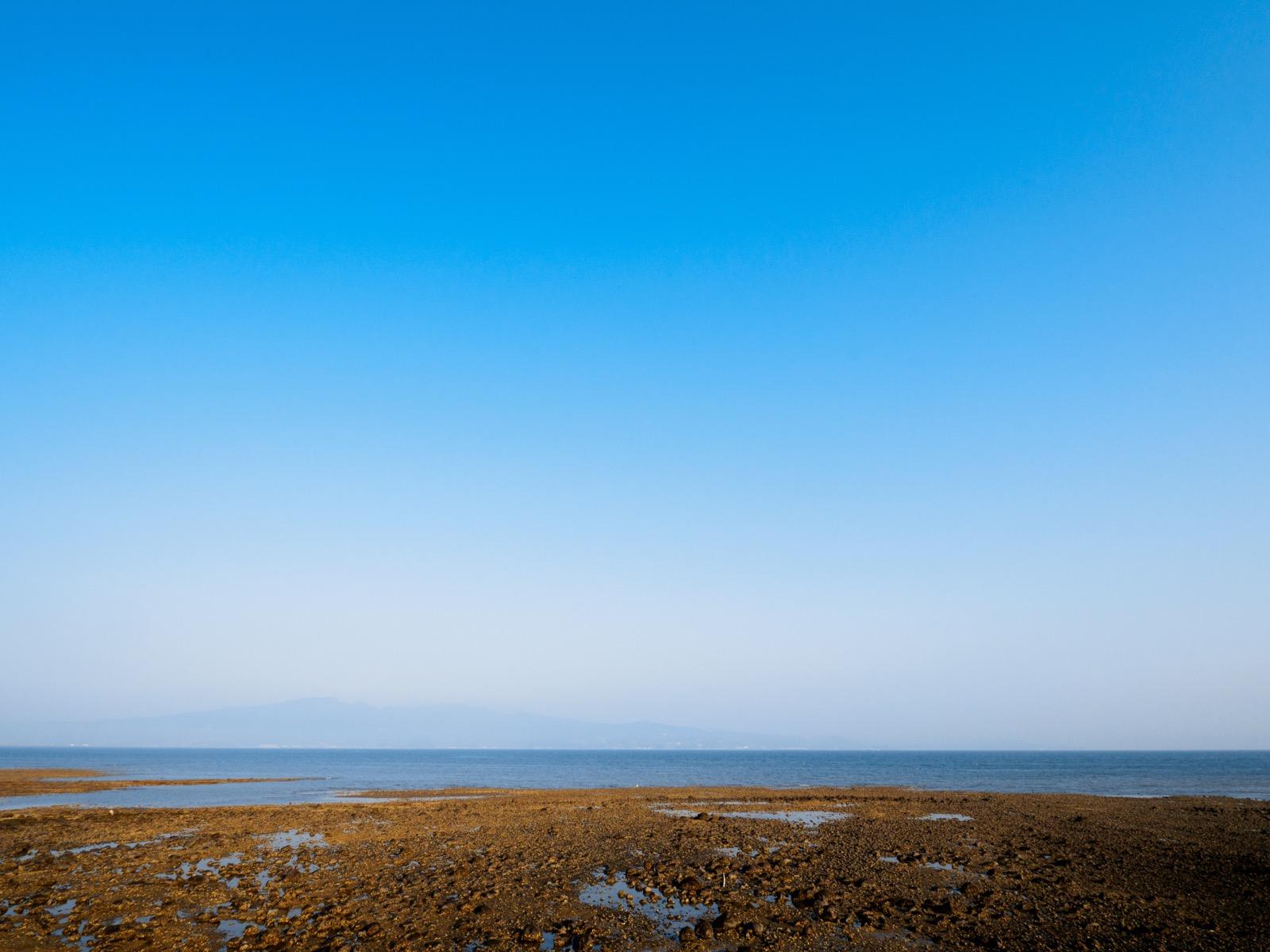 古部駅から見る干潮時の諫早湾
