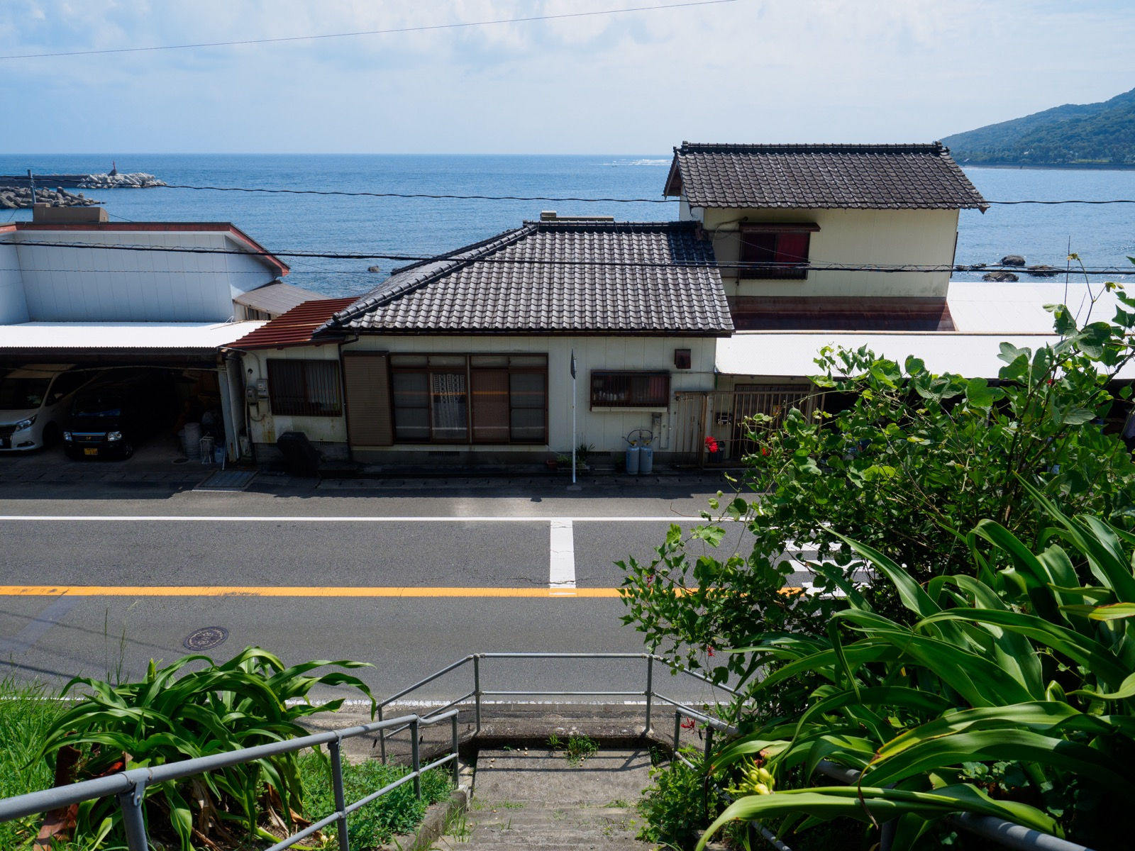 小内海駅から見た太平洋