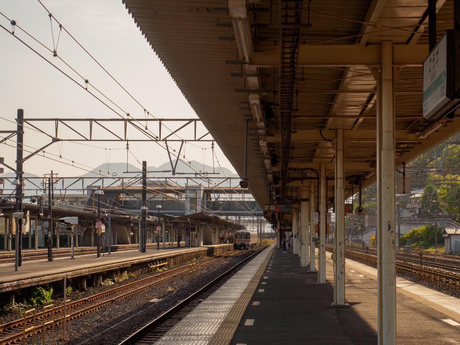 国府津駅のホーム