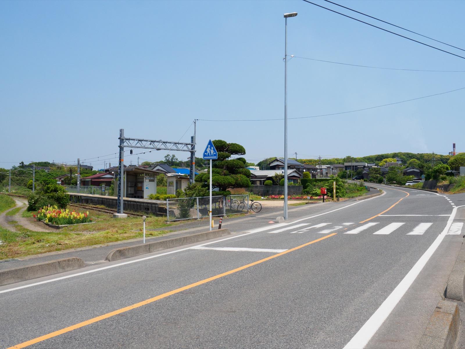 長門本山駅前