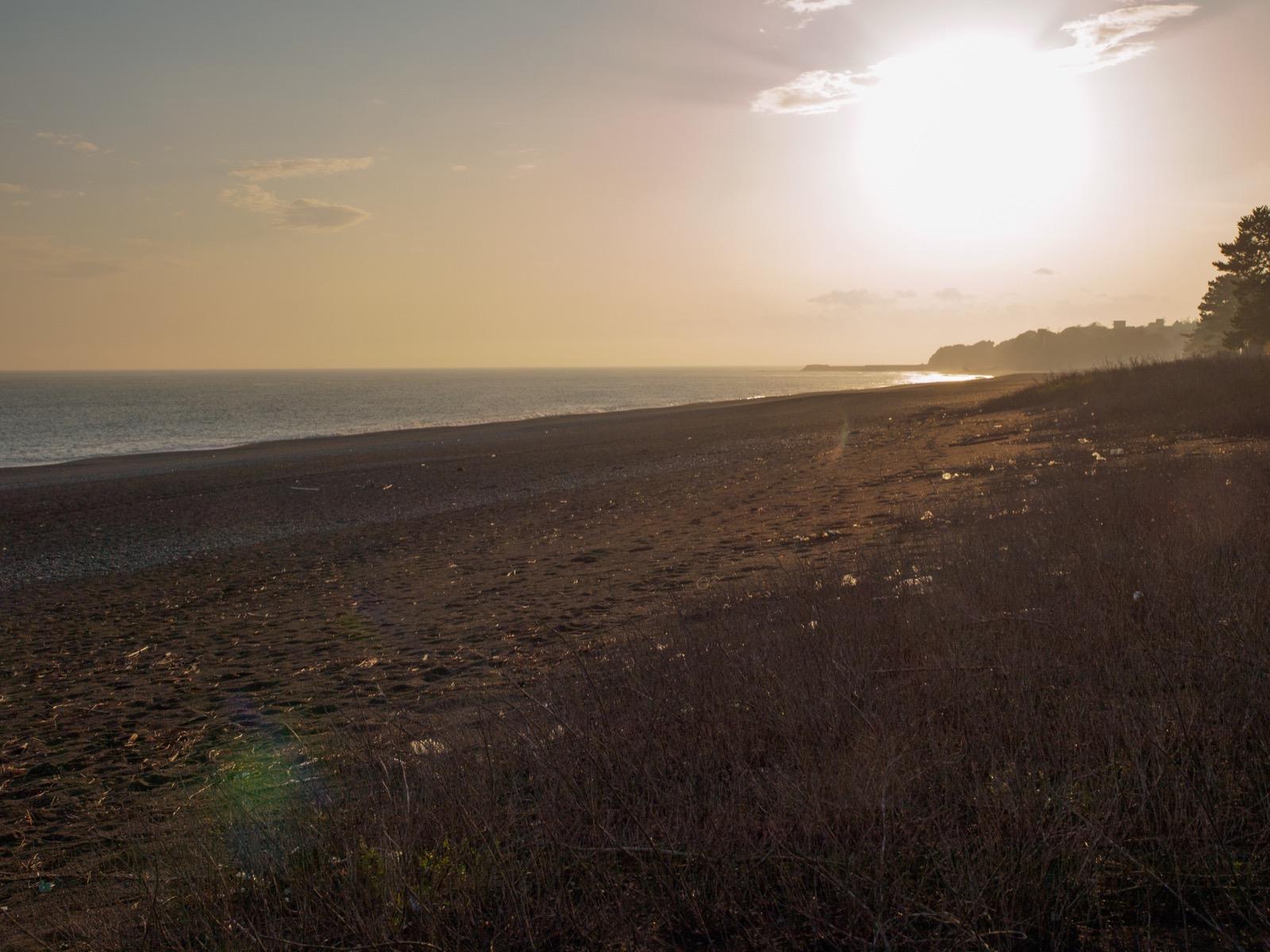 琴ヶ浜の海岸線
