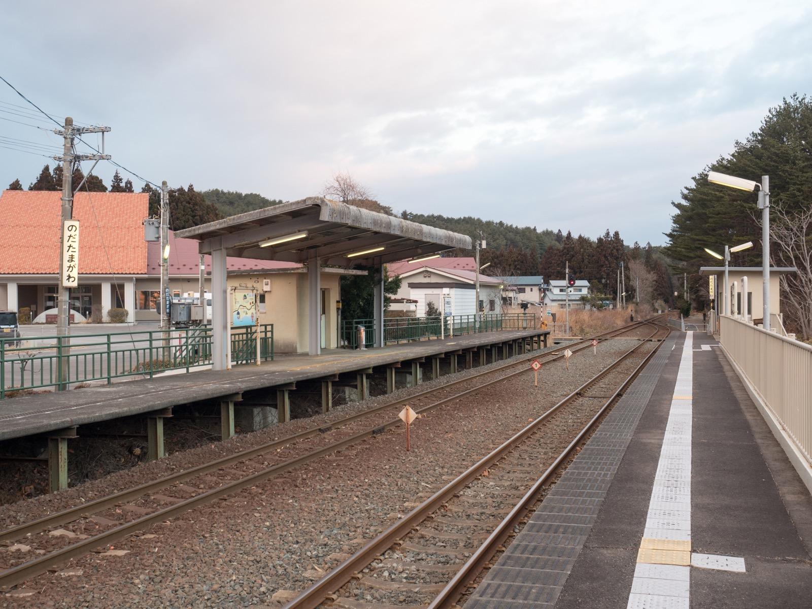 野田玉川駅のホーム