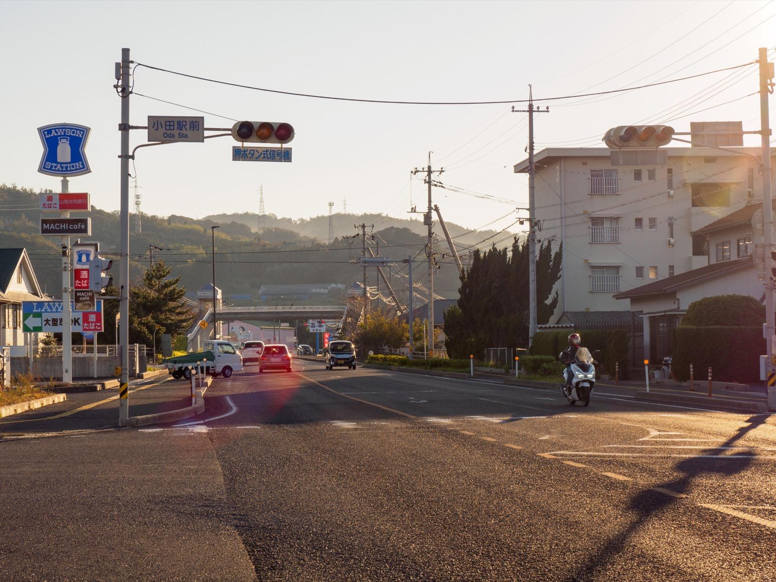 国道9号線小田駅前交差点