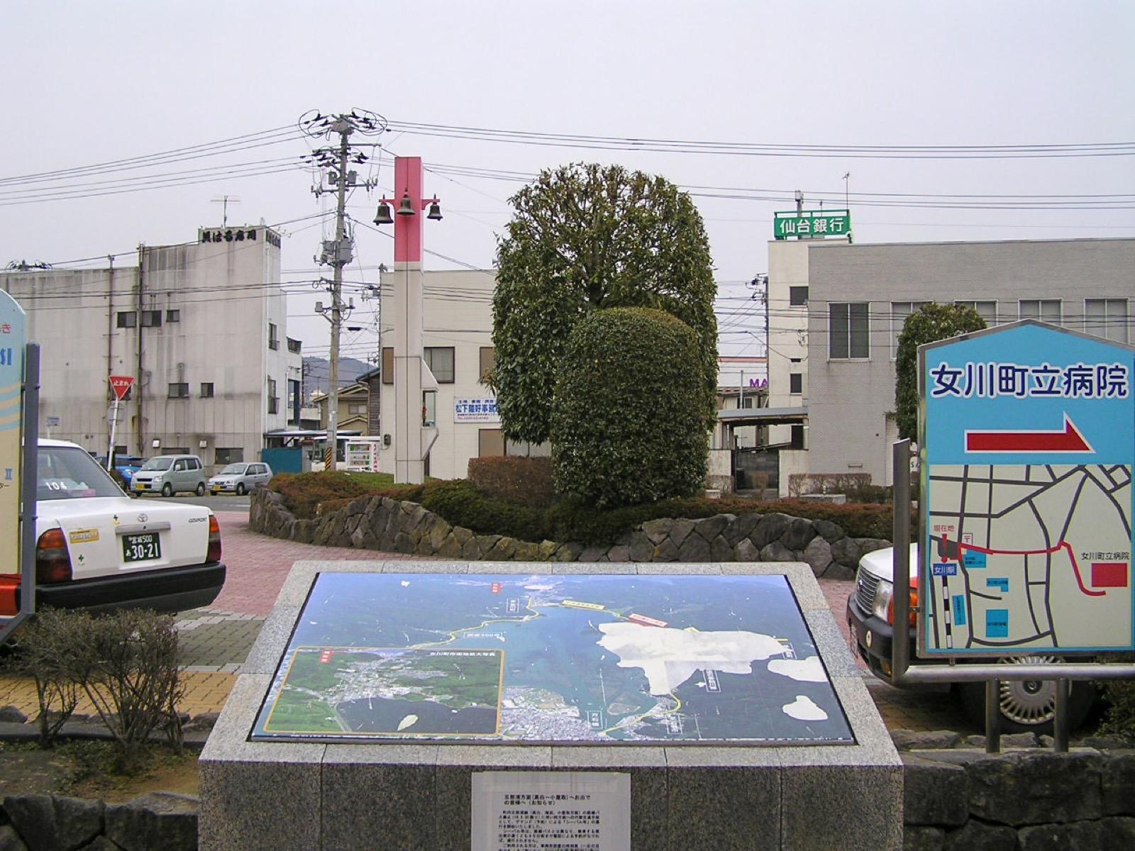 震災前の女川駅前(2007年3月)