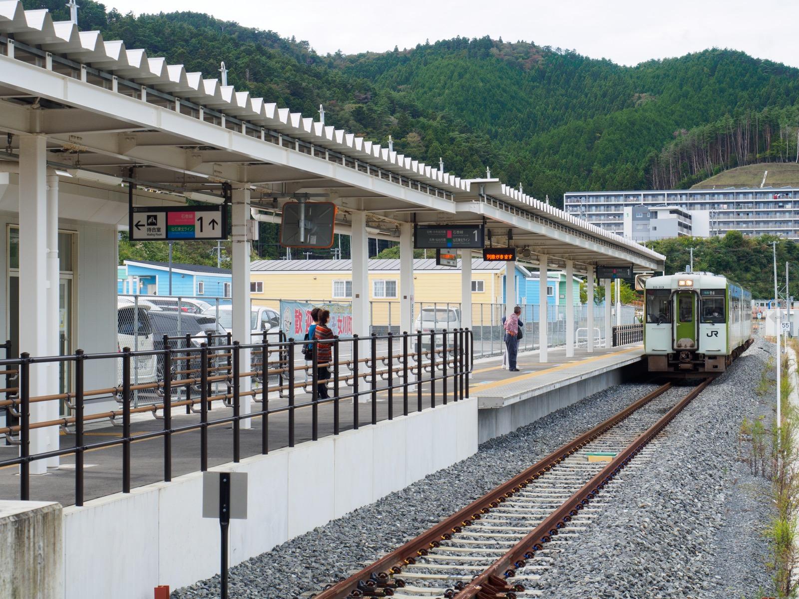 女川駅のホーム(2017年10月)