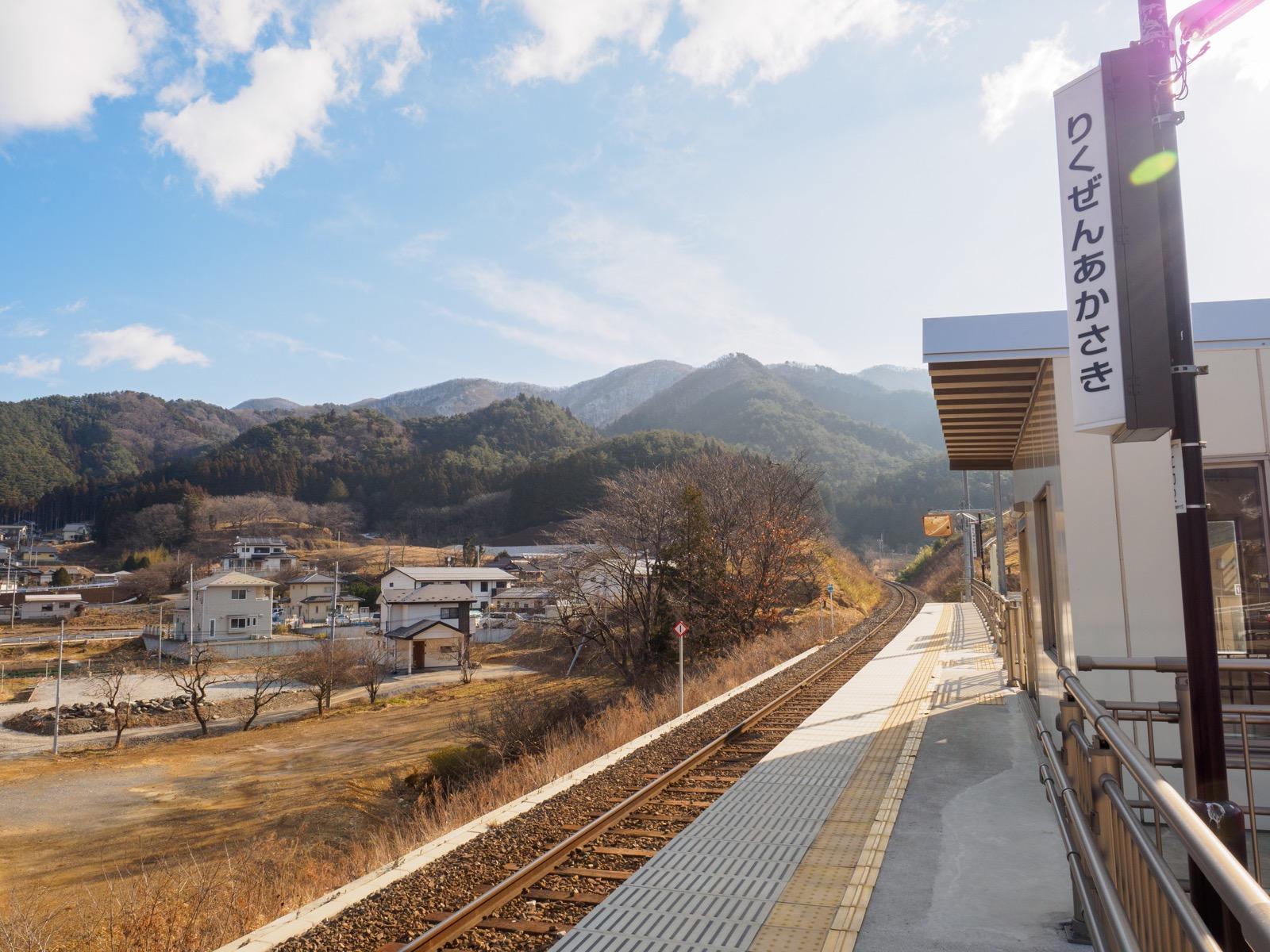 陸前赤崎駅のホーム