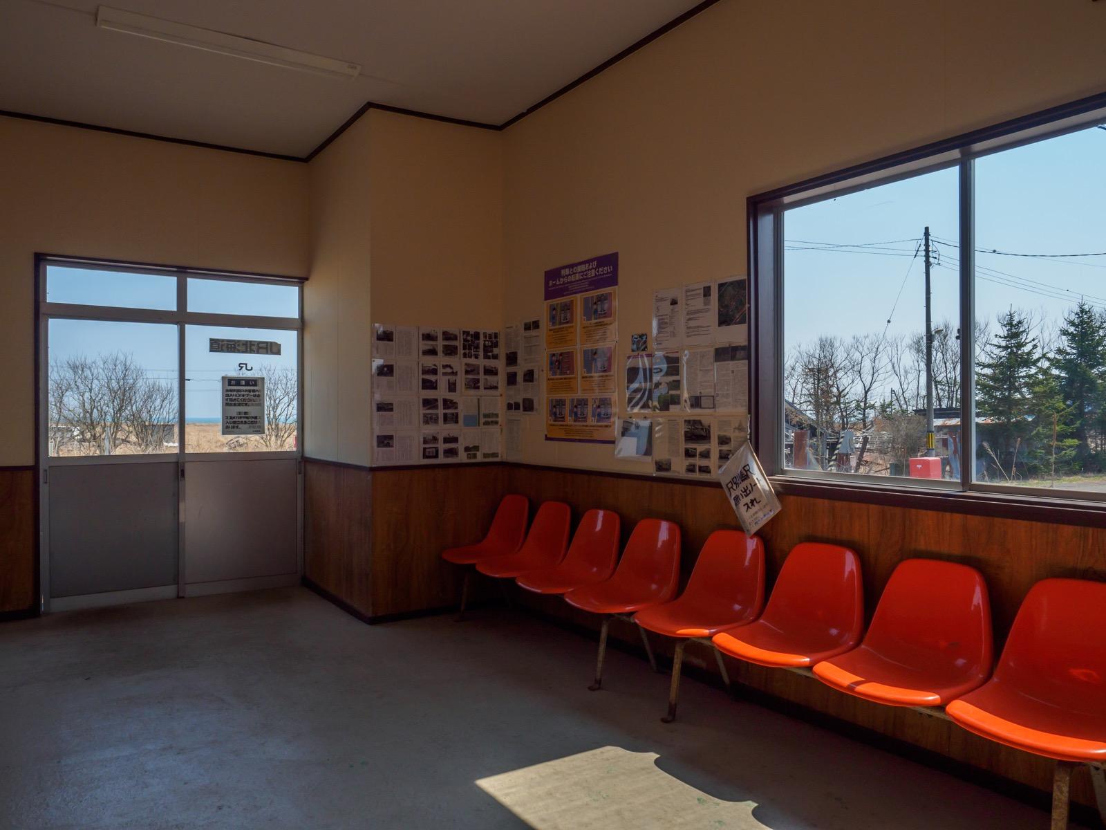 尺別駅の待合室