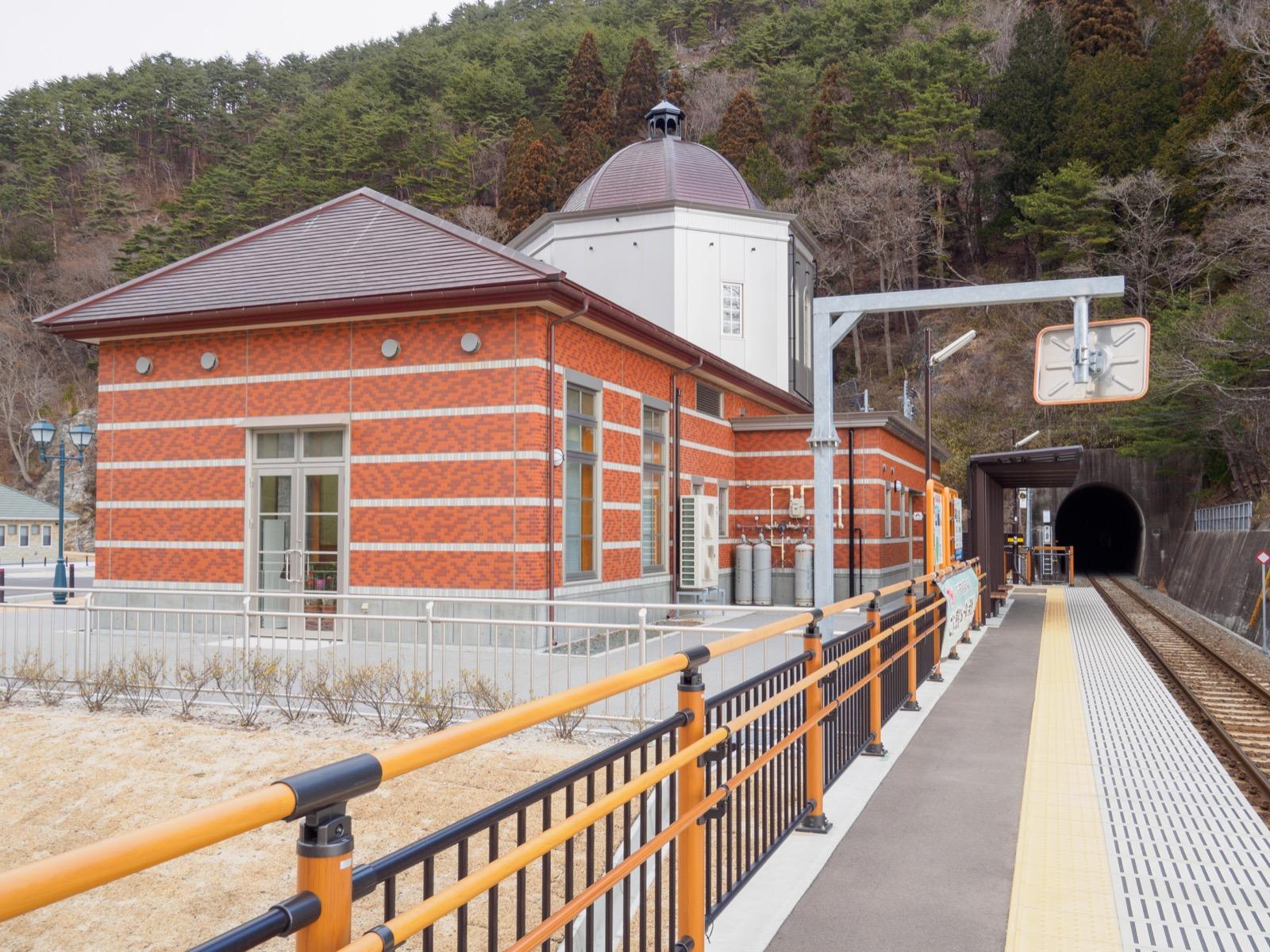 島越駅の駅舎