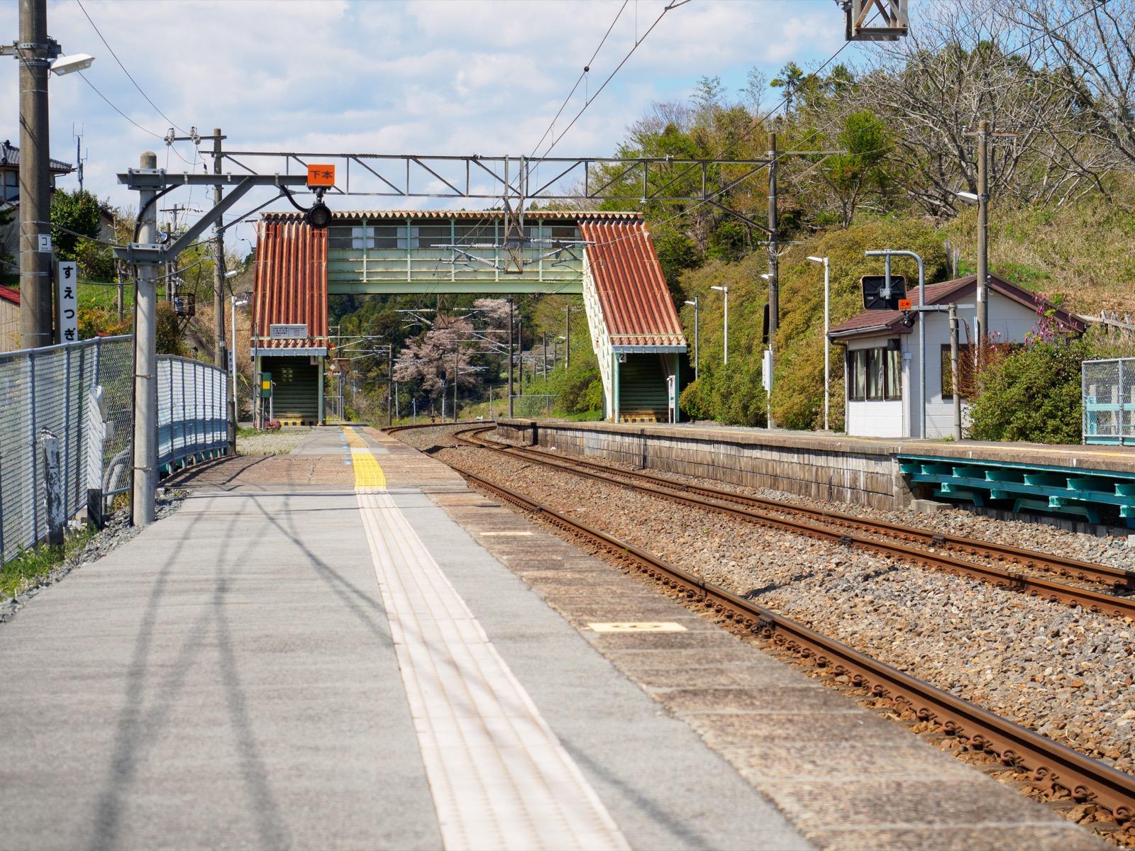 末続駅のホーム