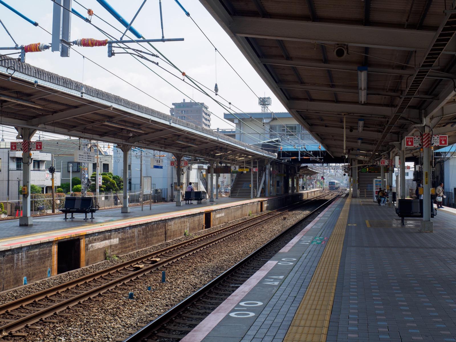 須磨駅のホーム
