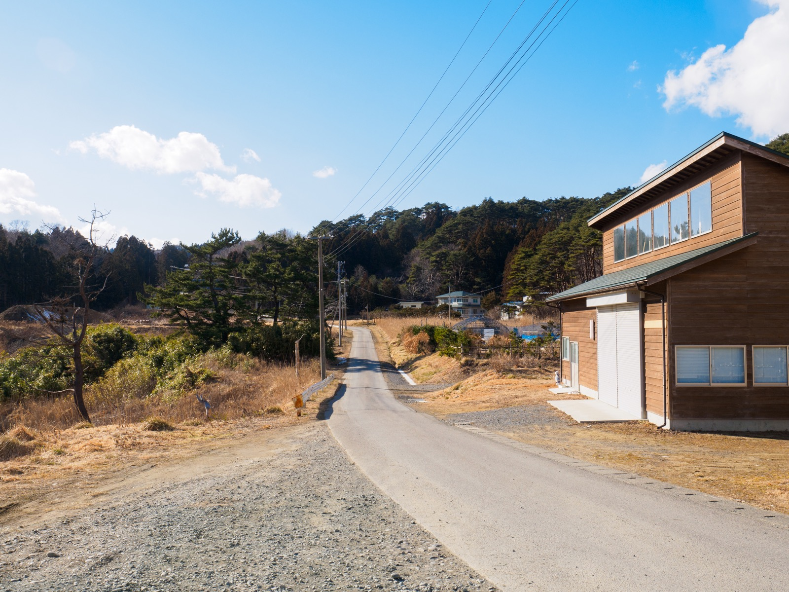 有家駅前に点在する住宅