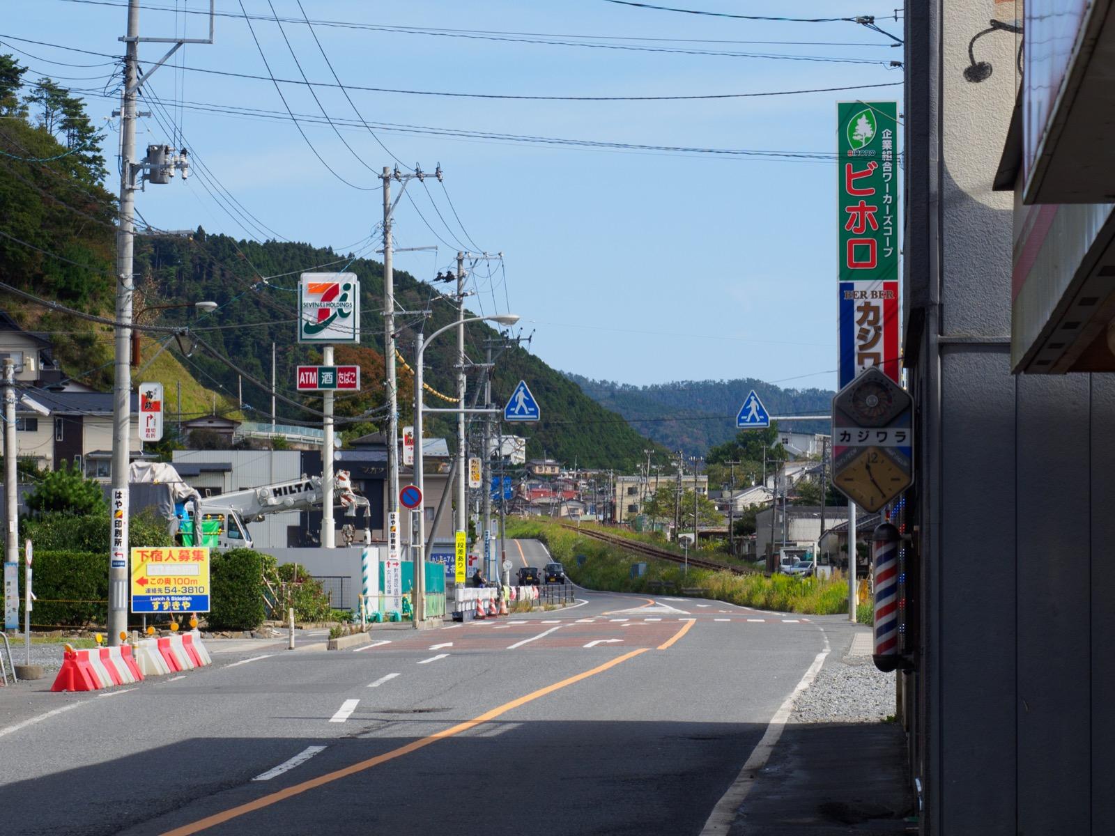 浦宿駅の国道398号線
