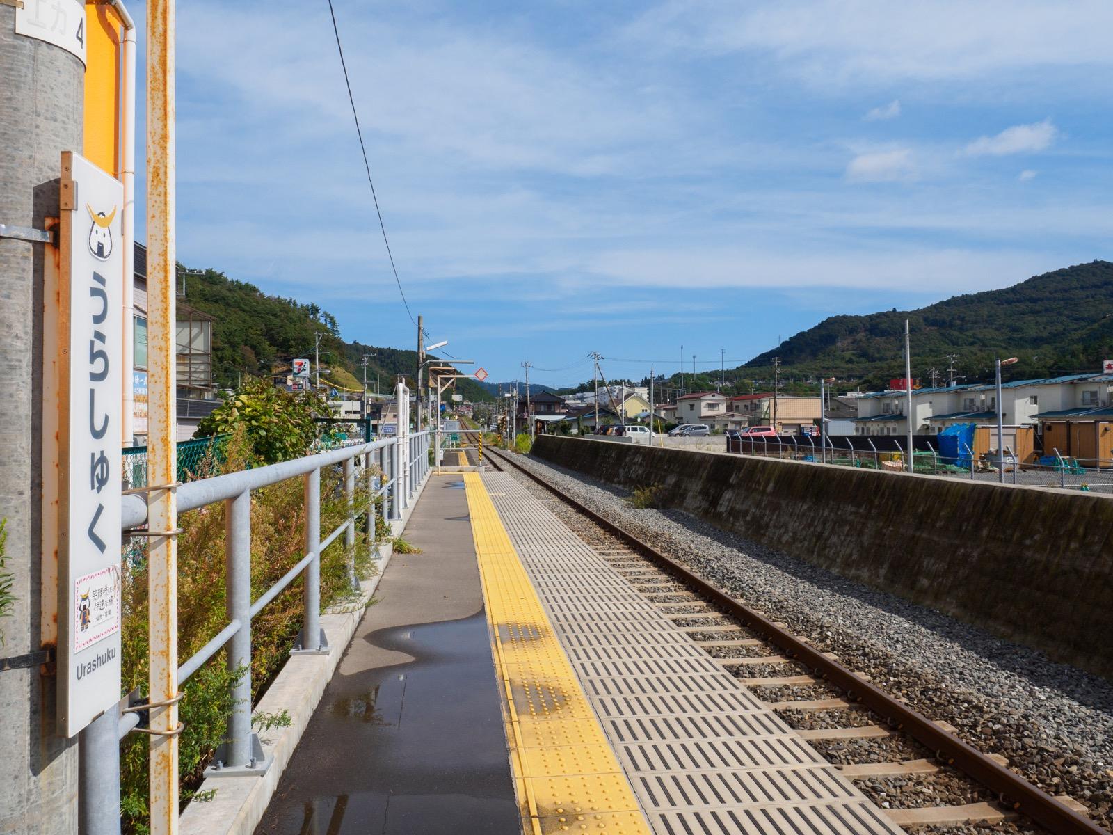 浦宿駅のホーム