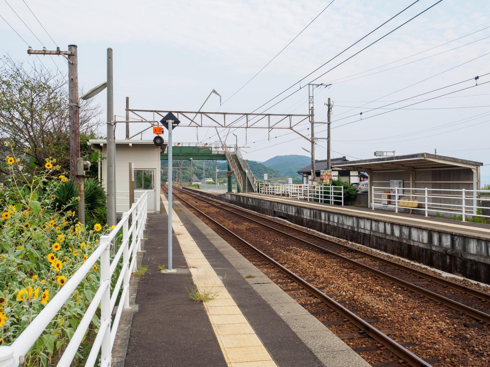 牛ノ浜駅のホーム
