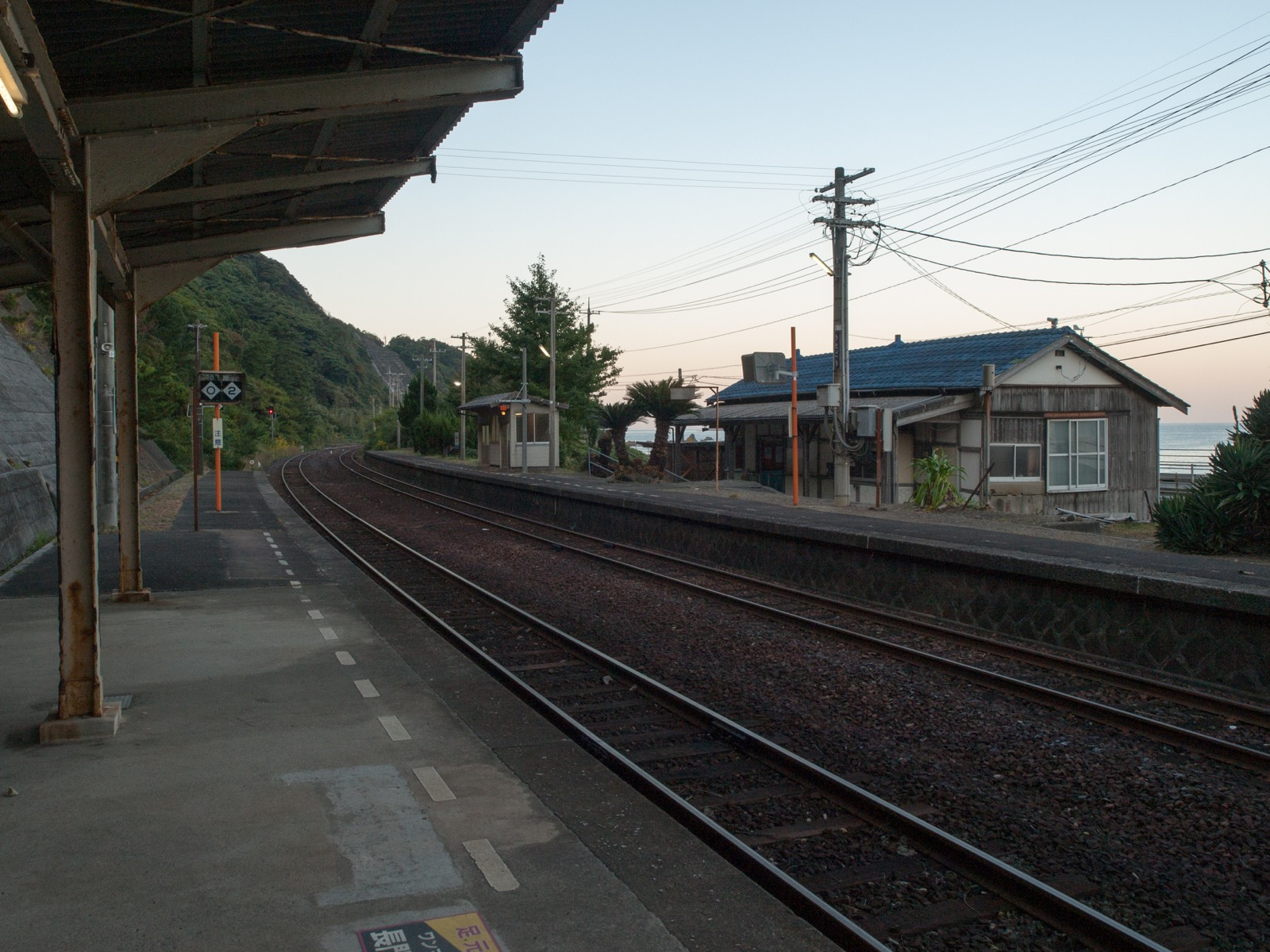宇田郷駅のホーム