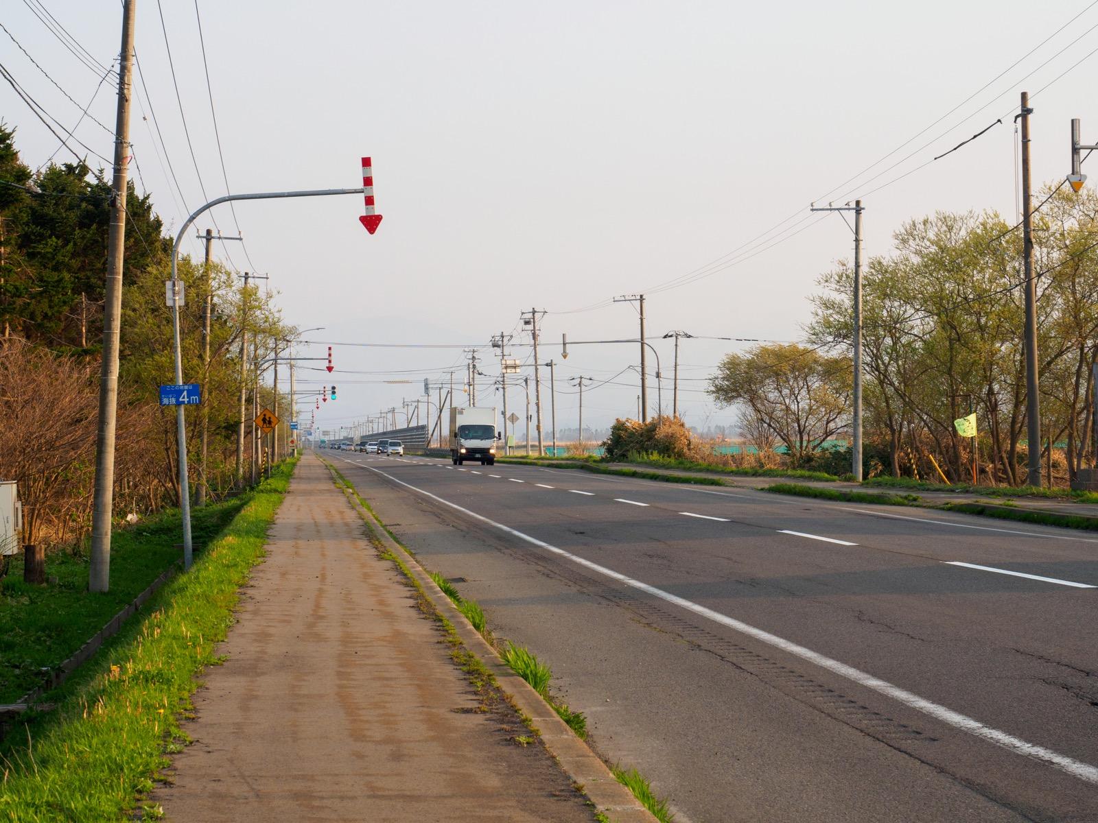 山崎駅前を通る国道5号線