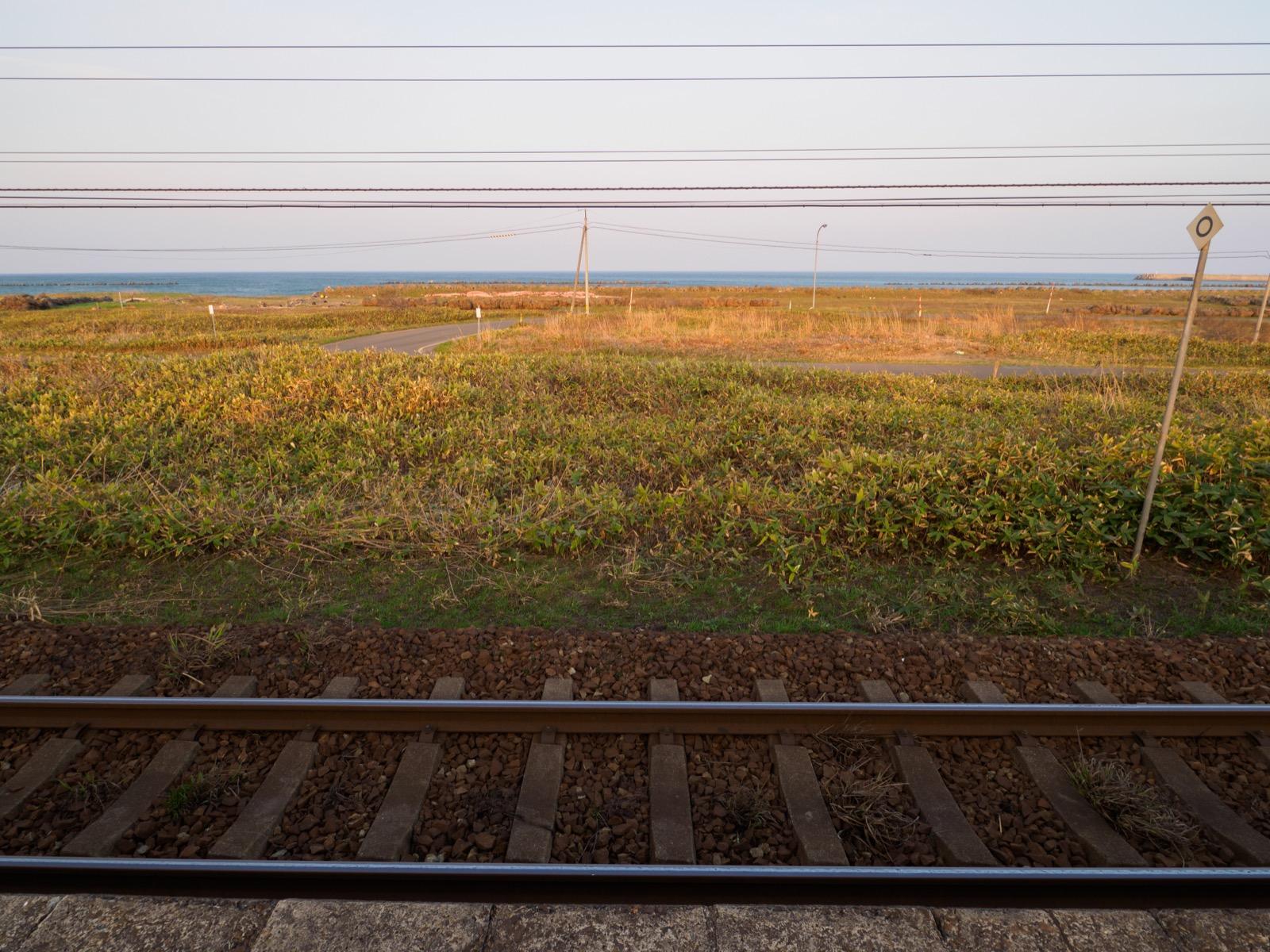 山崎駅から見た太平洋