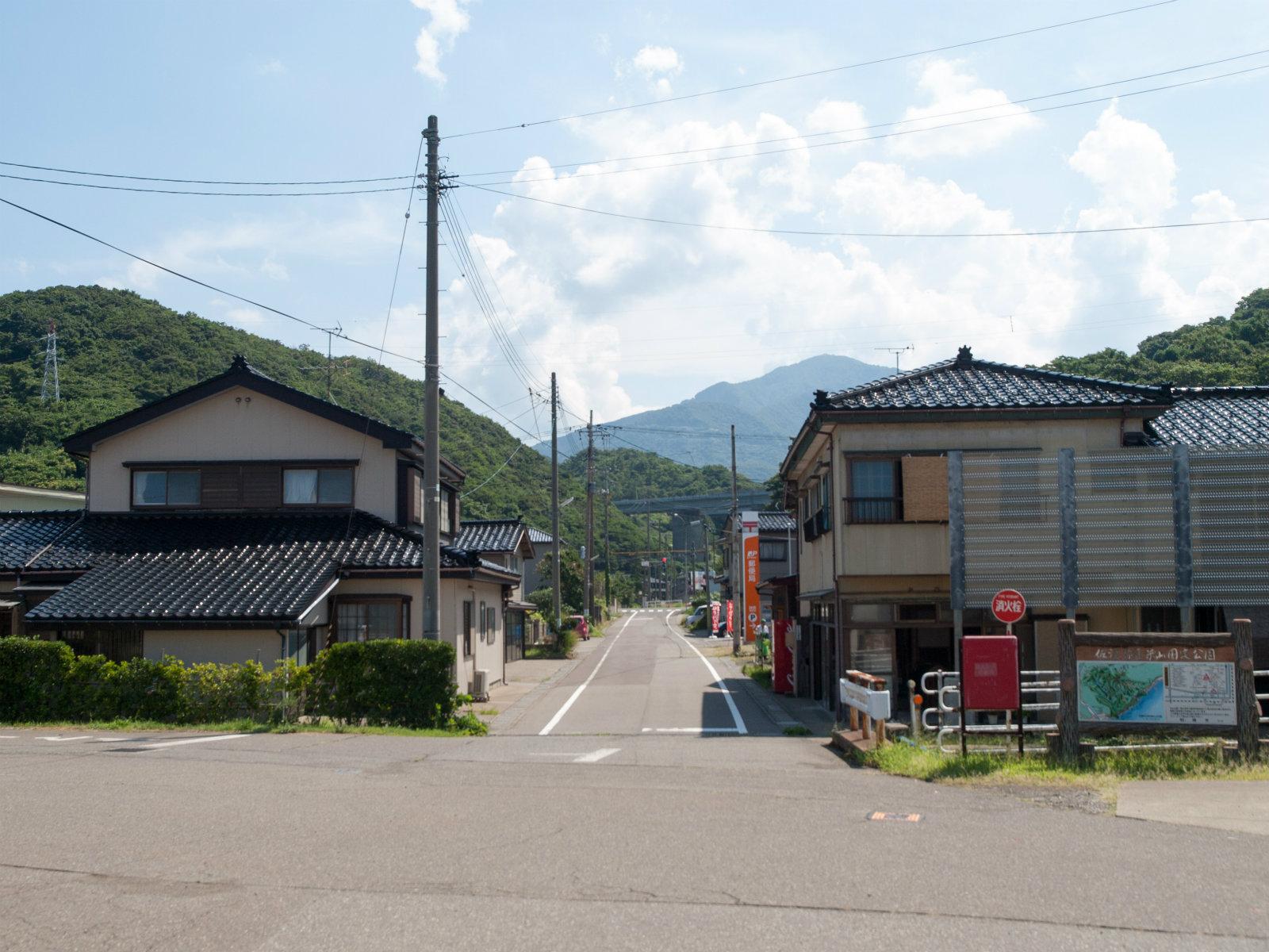 米山駅前と米山